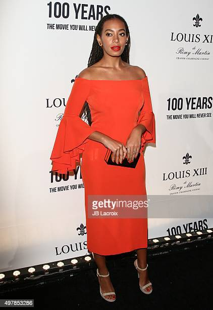 Solange Knowles attends Louis XIII Celebration of '100 Years' The Movie You Will Never See starring John Malkovich at a private residence on November...