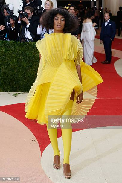 Solange Knowles attends Manus x Machina Fashion in an Age of Technology the 2016 Costume Institute Gala at the Metropolitan Museum of Art on May 02...