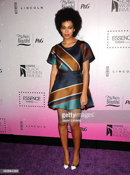 Solange Knowles attends the 4th annual ESSENCE Black Women In Music event at Greystone Manor Supperclub on February 6 2013 in West Hollywood...