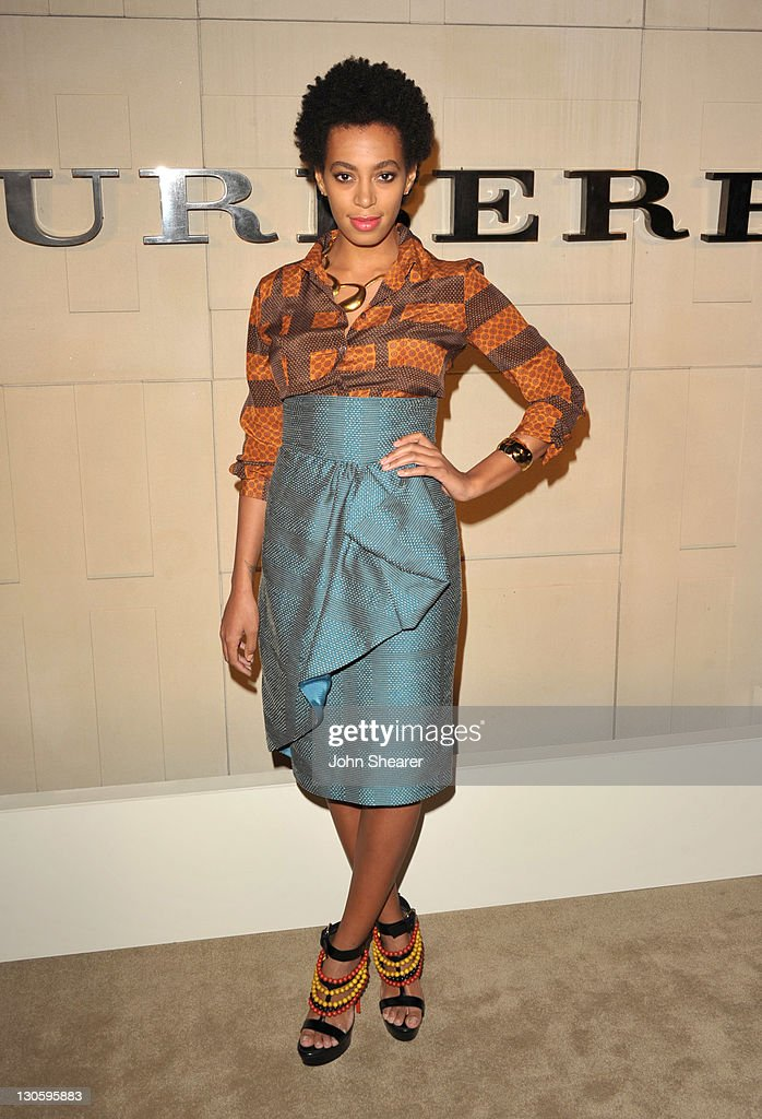DJ Solange Knowles attends the Burberry Body Launch event at Burberry on October 26, 2011 in Beverly Hills, California.