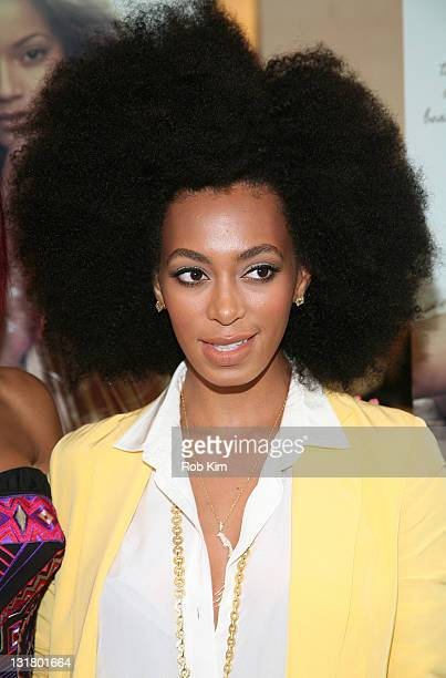 Solange Knowles attends the Carol's Daughter Spokesbeauty Monoi Repairing Collection Launch at Sephora on May 24 2011 in New York City