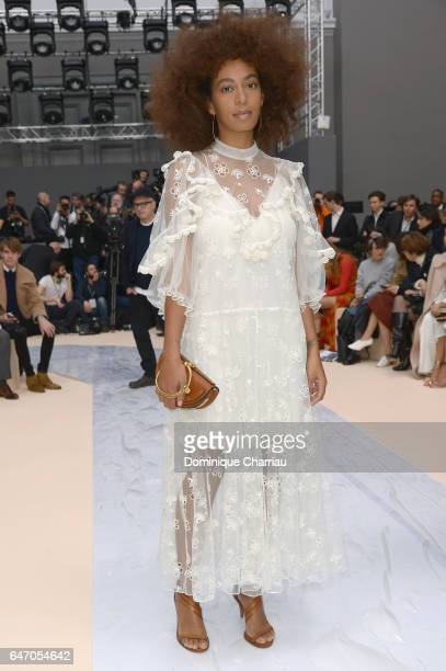 Solange Knowles attends the Chloe show as part of the Paris Fashion Week Womenswear Fall/Winter 2017/2018 on March 2 2017 in Paris France