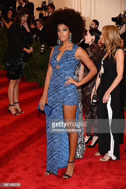Solange Knowles attends the Costume Institute Gala for the PUNK Chaos to Couture exhibition at the Metropolitan Museum of Art on May 6 2013 in New...