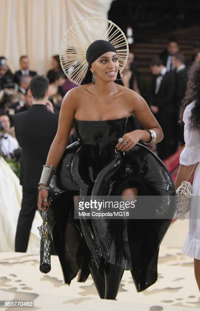 Solange Knowles attends the Heavenly Bodies Fashion The Catholic Imagination Costume Institute Gala at The Metropolitan Museum of Art on May 7 2018...