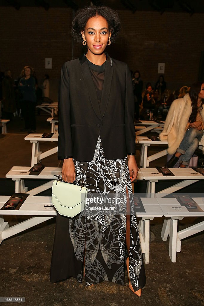 Honor - Front Row - Mercedes-Benz Fashion Week Fall 2014 : News Photo