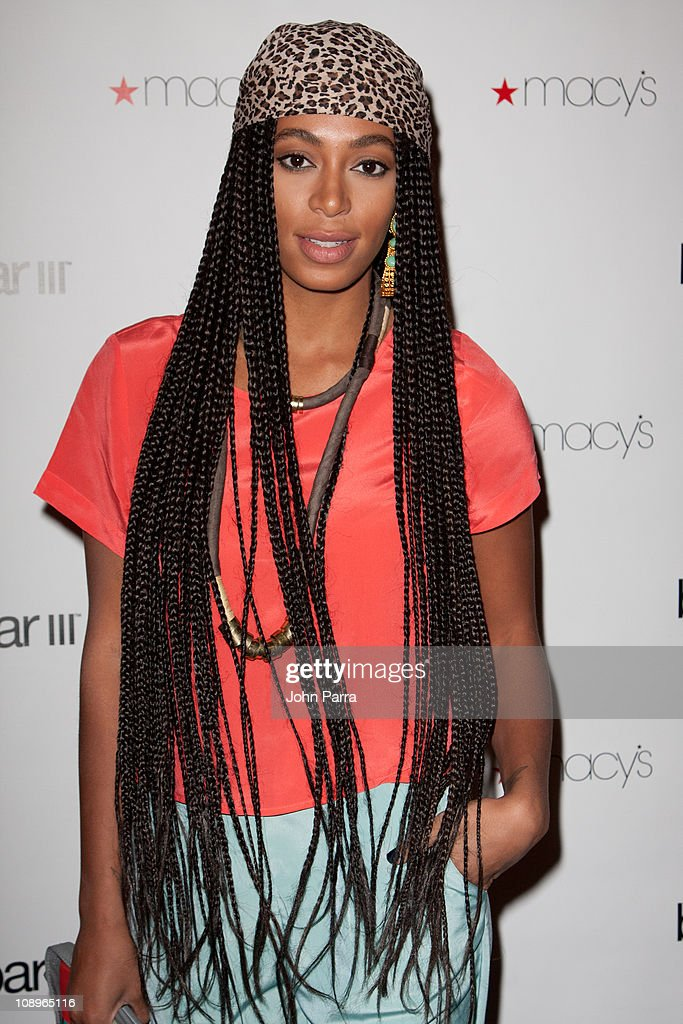 DJ Solange Knowles attends the launch party for Macy's Bar III Pop-Up Shop at 156 Fifth Ave on February 9, 2011 in New York City.