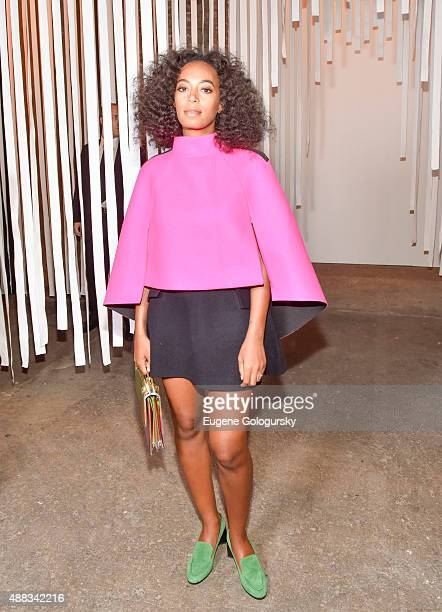 Solange Knowles attends the Milly during Spring 2016 New York Fashion Week at ArtBeam on September 15, 2015 in New York City.