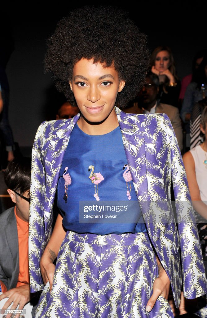 Solange Knowles attends the Noon By Noor Spring 2014 fashion show during Mercedes-Benz Fashion Week at The Studio at Lincoln Center on September 6, 2013 in New York City.