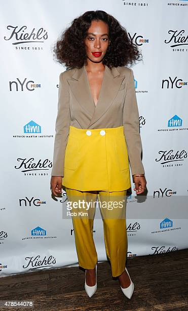 Solange Knowles attends the NYC Pride and Kiehl's Since 1851 Celebrate Pride Week 2015 event at Kiehl's Since 1851 Flagship Store on June 25 2015 in...