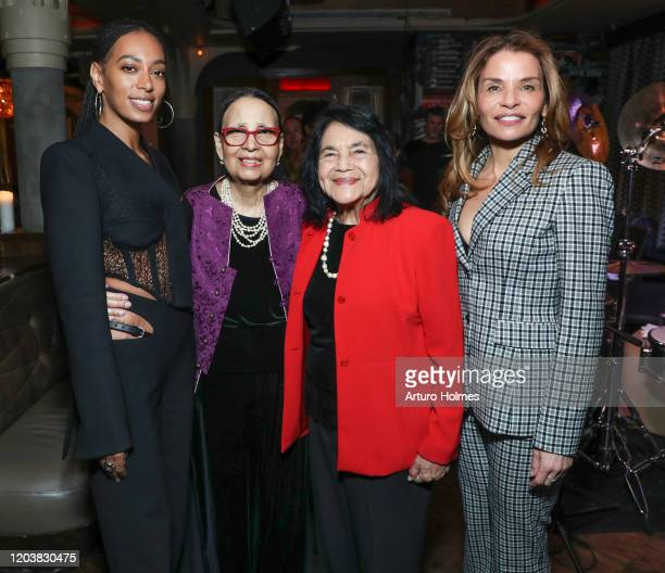 Solange Knowles Gail Lumet Buckley Dolores Huerta and Jenny Lumet attend a private dinner in honor of Solange receiving the Lena Horne Prize at Red...