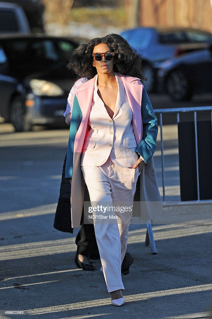 Solange Knowles is seen on February 11, 2014 in New York City.
