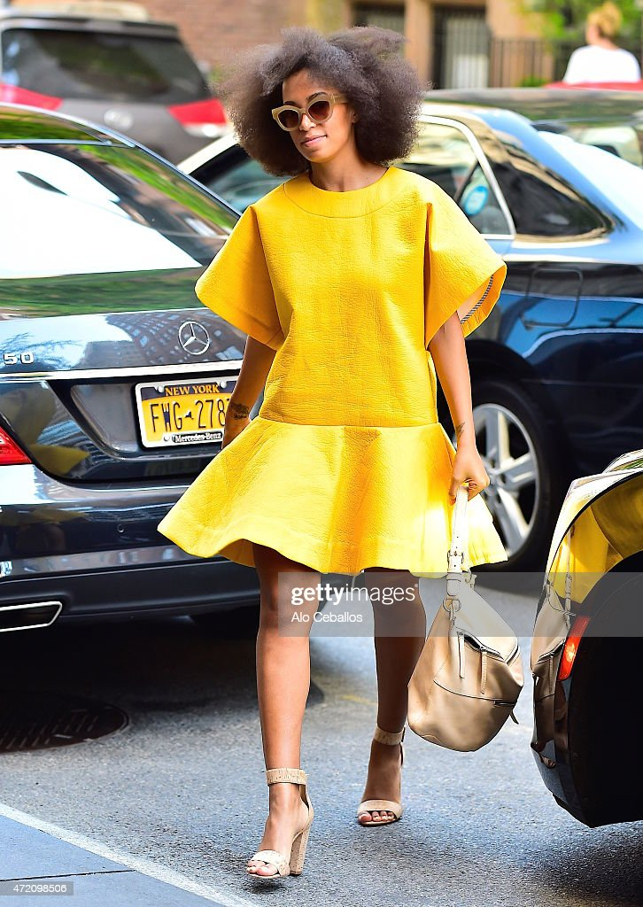 Solange Knowles is seen on May 3, 2015 in New York City.