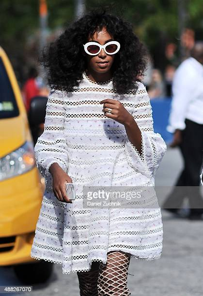 Solange Knowles is seen outside the 31 Phillip Lim show during New York Fashion Week 2016 on September 14 2015 in New York City