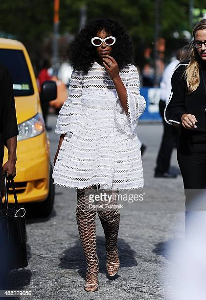 Solange Knowles is seen outside the 31 Phillip Lim show on September 14 2015 in New York City