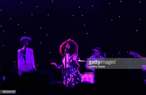 Solange Knowles performs at Webster Hall on February 20, 2013 in New York, United States.