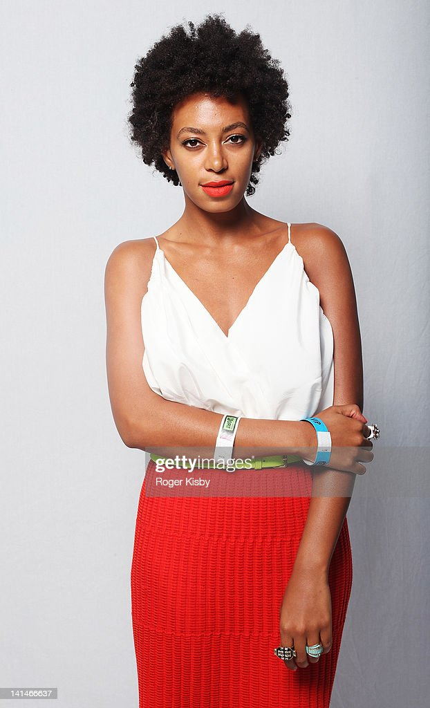 Solange Knowles poses for a portrait backstage at Fader Fort presented by Converse during SXSW on March 16, 2012 in Austin, Texas.