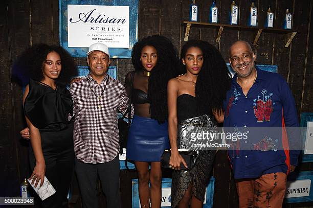 Solange Knowls Russell Simmons TK Wonder Cipriana Quann and Danny Simmons attend The 6th Annual Bombay Sapphire Artisan Series Grand Finale Cohosted...