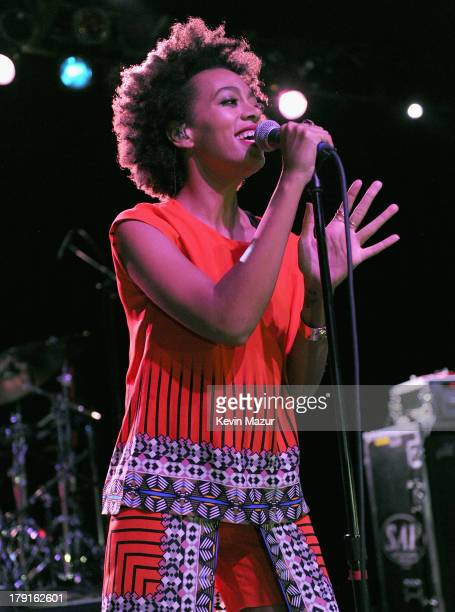 Solange performs at the 2013 Budweiser Made in America Festival after party at Theater of the Living Arts on August 31, 2013 in Philadelphia,...