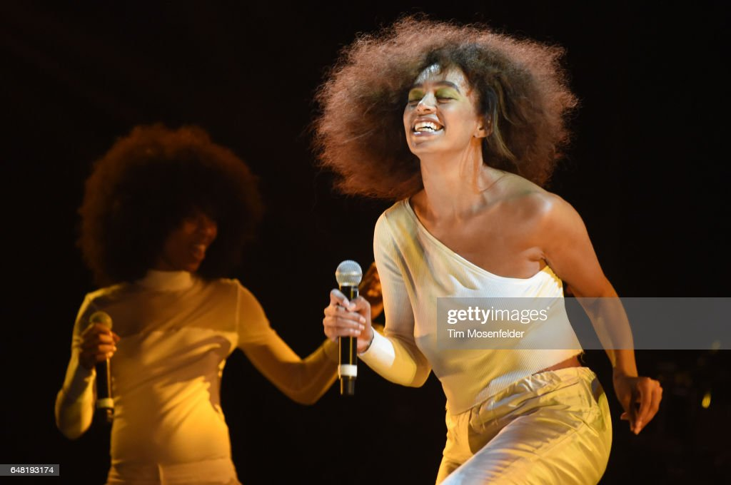 Solange performs during the Okeechobee Music Festival on March 4, 2017 in Okeechobee, Florida.