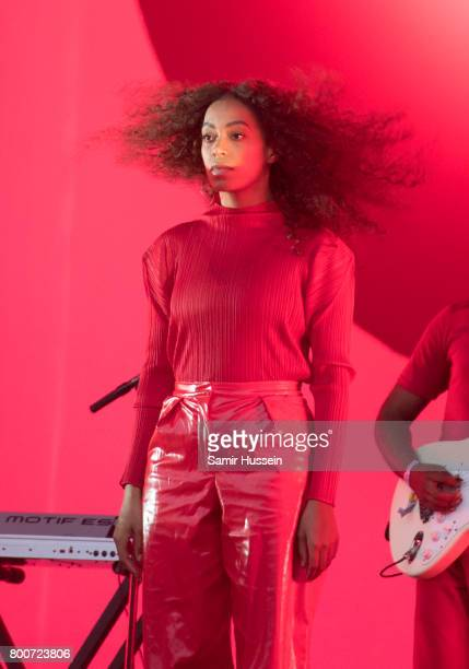 Solange performs on day 3 of the Glastonbury Festival 2017 at Worthy Farm Pilton on June 24 2017 in Glastonbury England