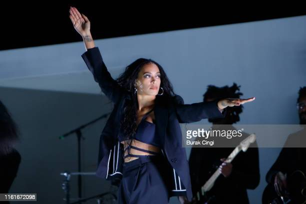 Solange performs onstage during day 1 of Lovebox 2019 at Gunnersbury Park on July 12, 2019 in London, England.