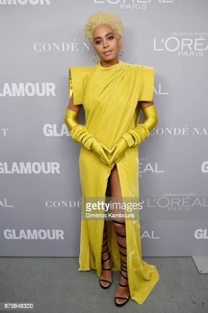 Solange poses backstage at Glamour's 2017 Women of The Year Awards at Kings Theatre on November 13, 2017 in Brooklyn, New York.