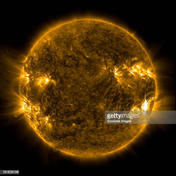 Solar activity on the Sun.