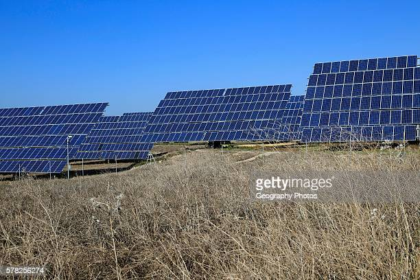 PV solar array at Cordel del Palmar near Vejer de la Frontera Cadiz province Spain