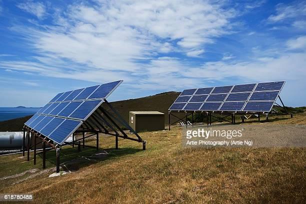 Solar Array Composed of Solar Modules in Rural Tasmania, Australia