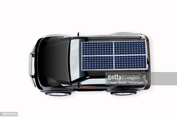 Solar car, elevated view