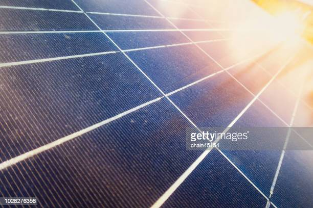Solar cell or solar panel for green energy or renewable energy from environmental sun light. Green energy concept.