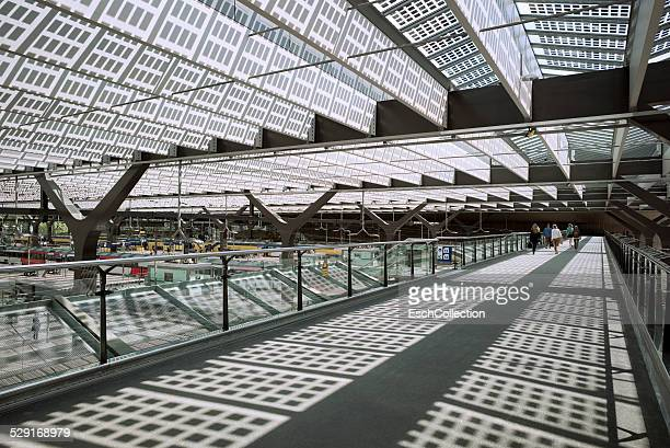 Solar cell roof at Rotterdam Central Station
