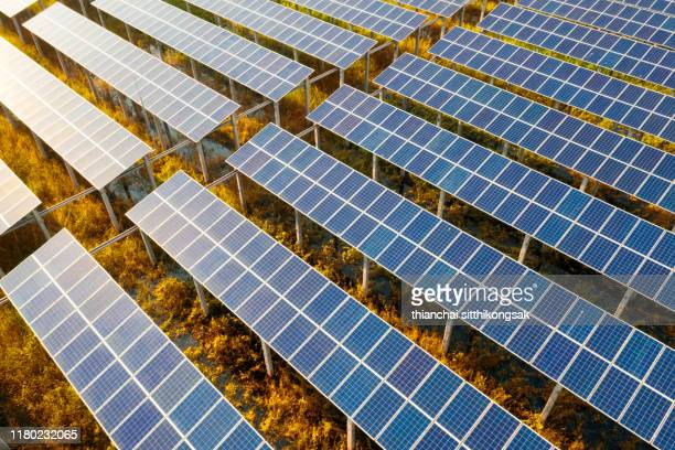 solar cell station for alternative energy - sustainable energy stock pictures, royalty-free photos & images