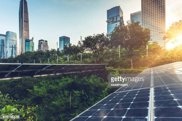 solar city - environmental conservation stock photos and pictures