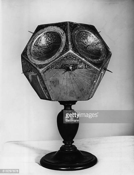 Solar clock in the form of a dodecahedron by Stefan Buonsignori Preserved in the Florence science museum Undated photograph