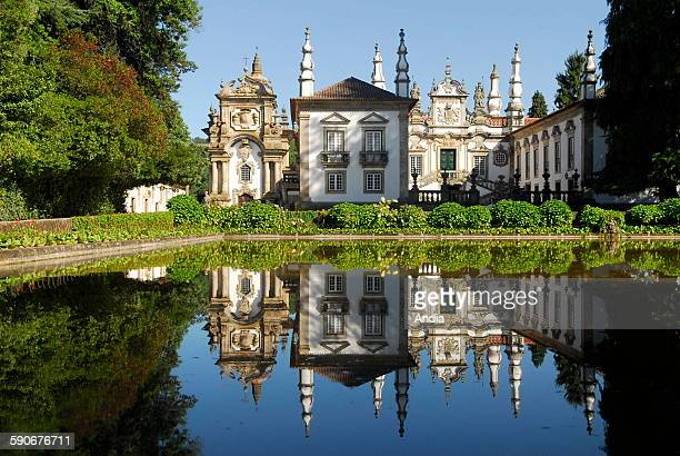 Solar de Mateus Baroque manor dating back to the XVIIIth century near Vila Real where the Mateus wine is produced in northeastern Portugal Reflection...
