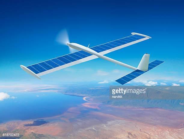 Solar drone airplane