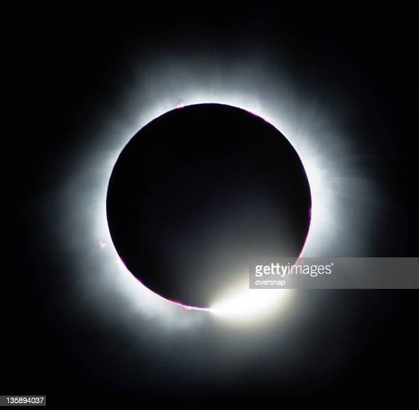 solar eclipse diamond ring - corona stock pictures, royalty-free photos & images