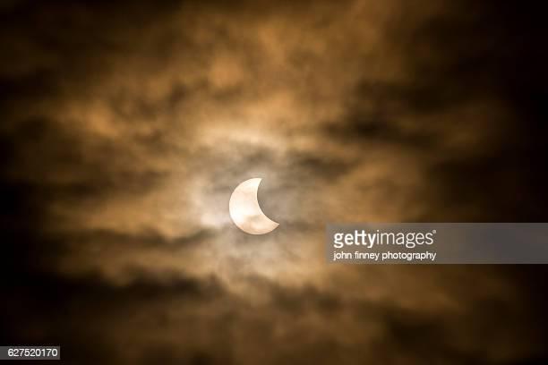 Solar eclipse over Derbyshire, Peak District, UK