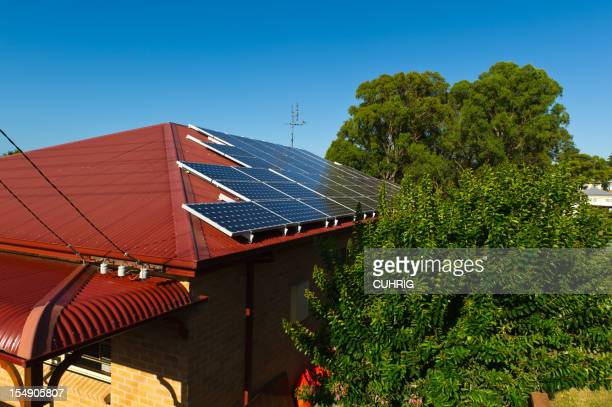 Solarenergie Elektrizität Einsätze auf Haus Dach