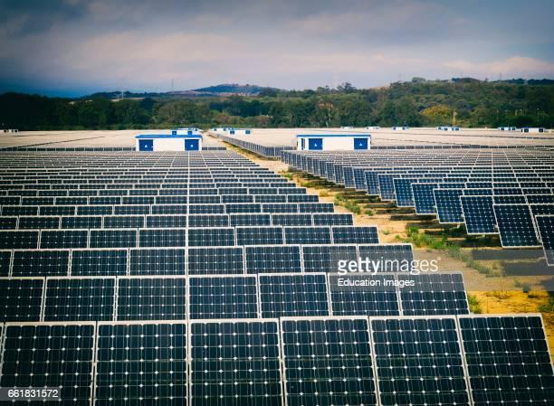 Solar energy center near Guadarranque San Roque Cadiz Province Spain
