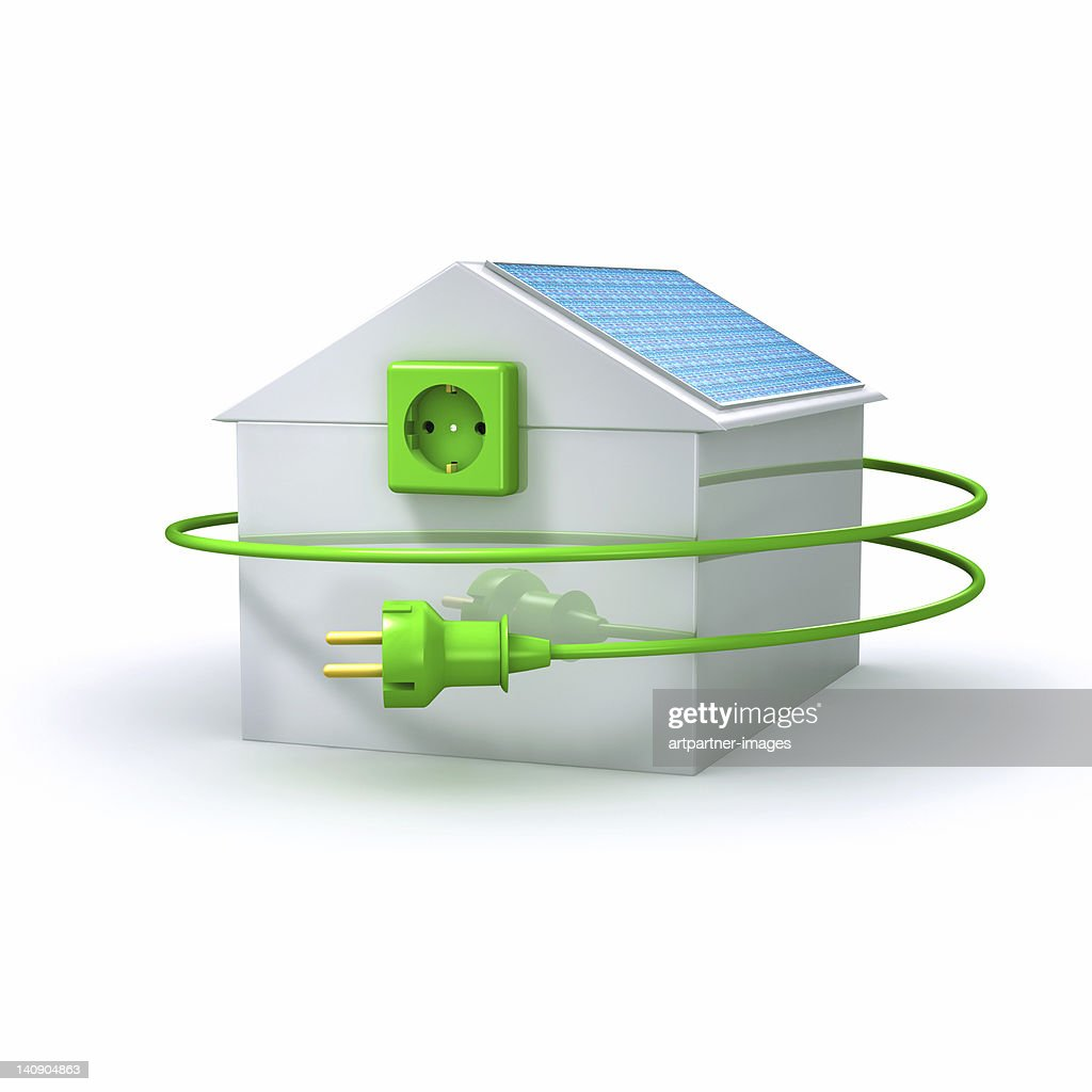 Solar Energy House With Plug And Socket Stock Photo | Getty Images
