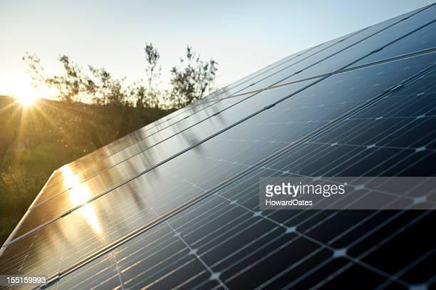 Solar Energy Panel with sun