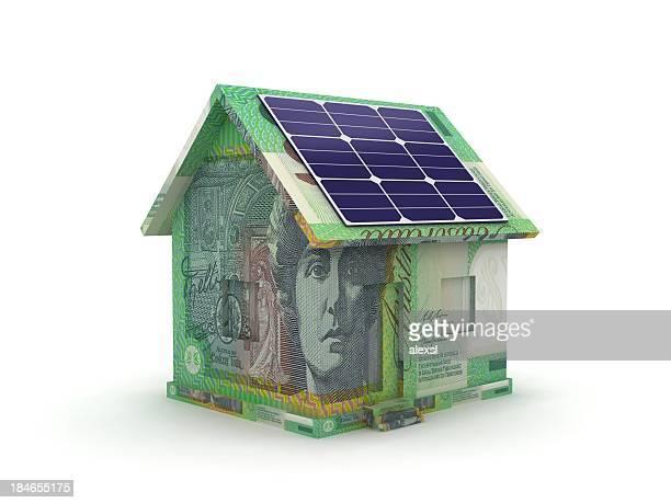 Solar energy savings smart house