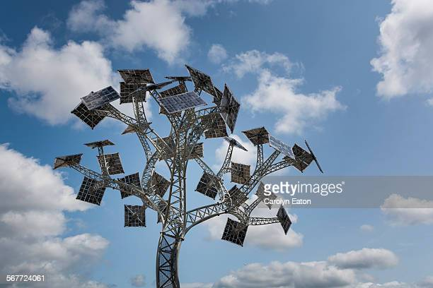 solar energy tree, bristol - installation art stock pictures, royalty-free photos & images