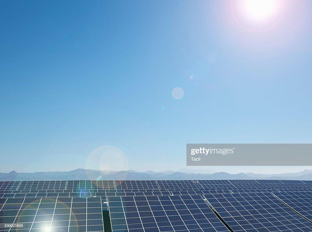 Solar farm, Andalusia, Spain : Stock Photo