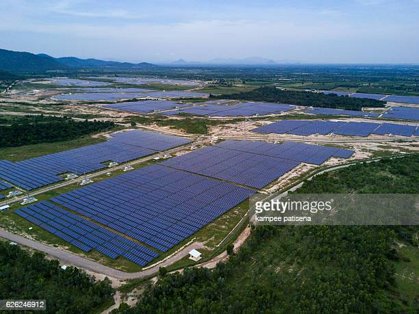 Solar farm from above