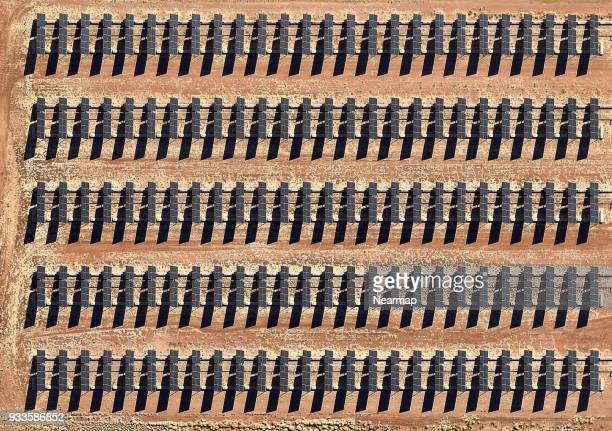 solar farm with panels - solar equipment stock pictures, royalty-free photos & images