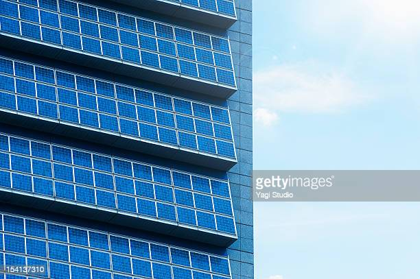 Solar panel and an office building