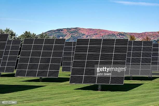 Solar panel array on solar farm